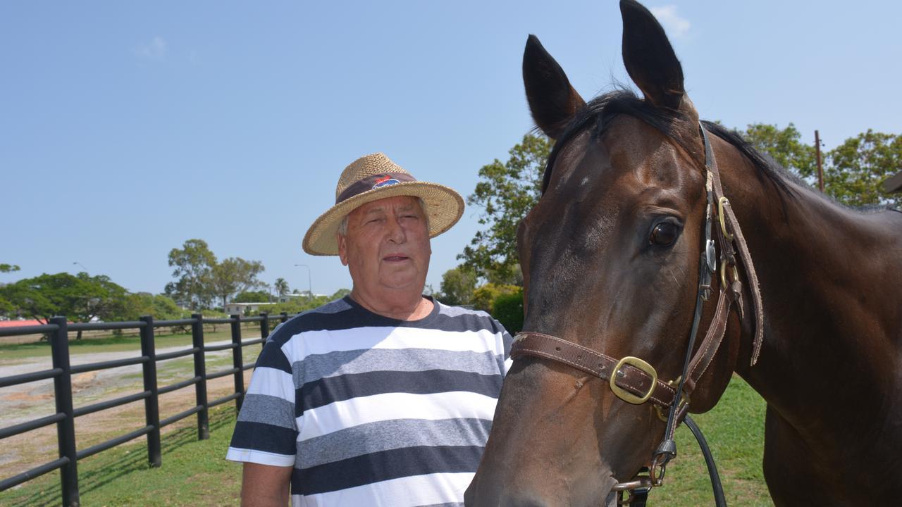 SPIRITED HORSE: Gladstone trainer Phil Pengelly with his gelding Sequalo's Spirit. PICTURE: Nick Kossatch