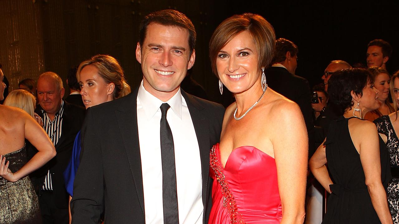 Stefanovic and Thorburn at the 2011 Logies.