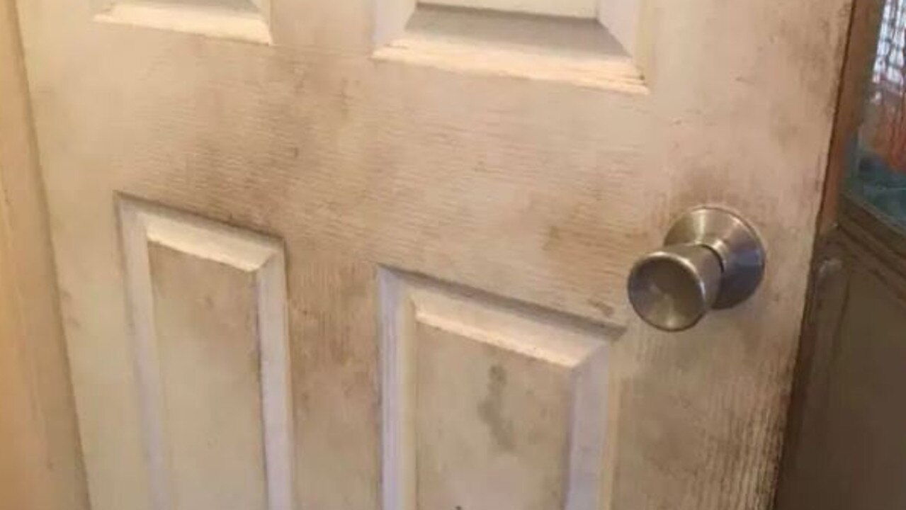 A mum admitted she hadn't cleaned her doors for six years. Credit: Facebook
