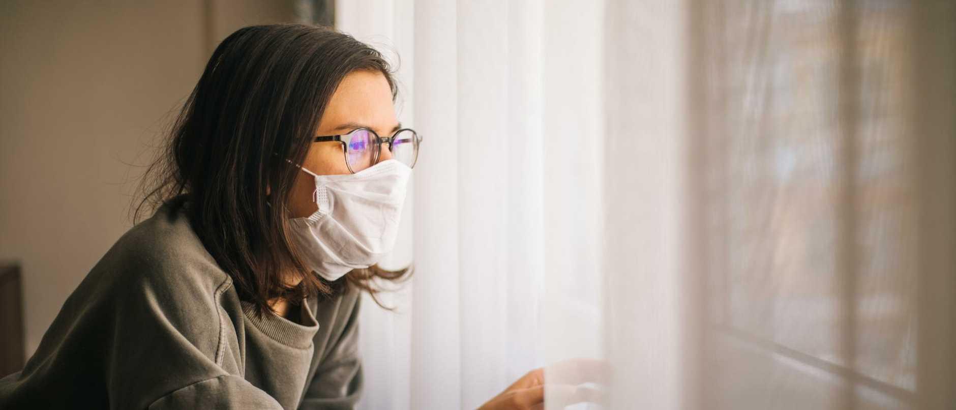 Woman in Isolation Quarantine Coronavirus