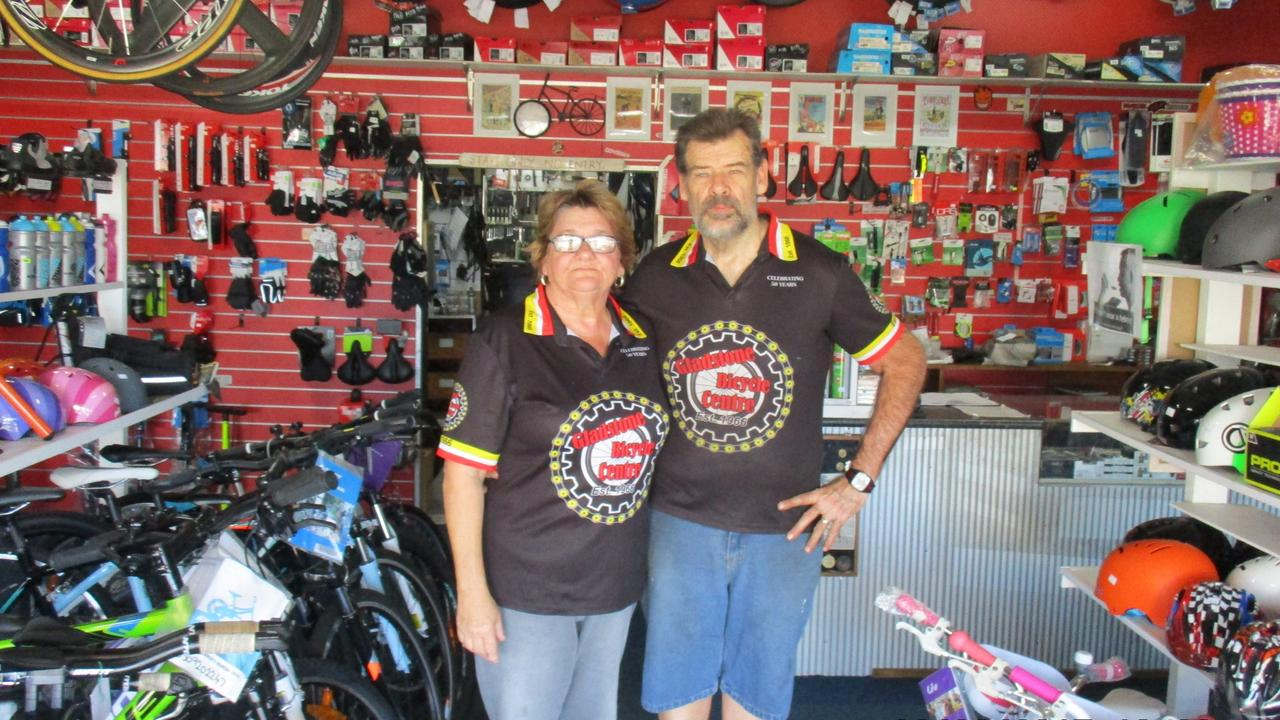 David and Sally-Anne McIntosh have owned Gladstone Bicycle Centre for 28 years. PICTURE: Contributed