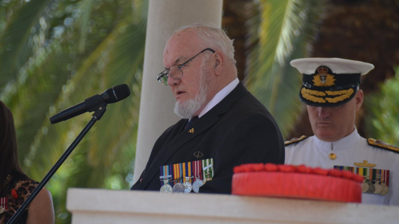 Don Davey at the 2018 Kingaroy Remembrance Day service.