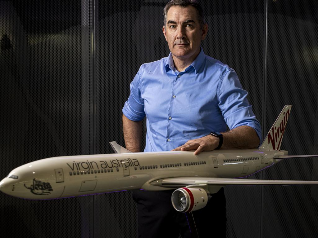Virgin CEO Paul Scurrah is confident that going into voluntary administration will put the company in a stronger position. Picture: Glenn Hunt/The Australian