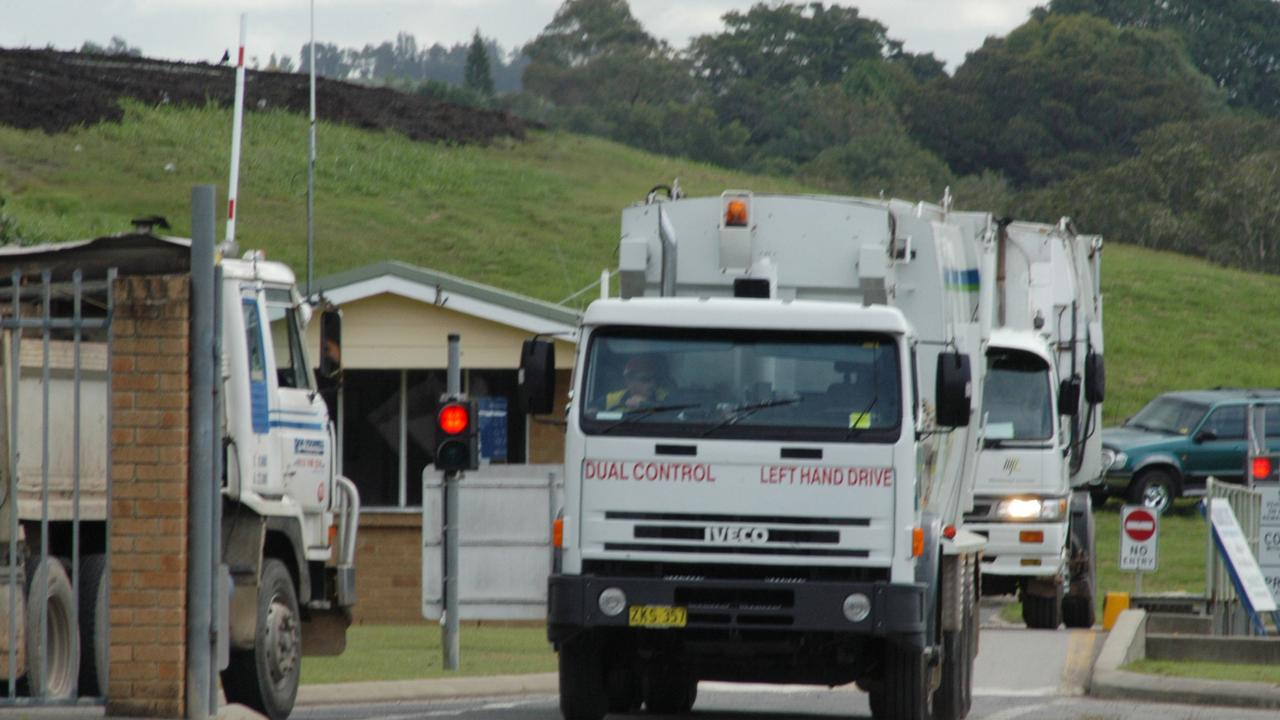 Garbage truck at Ballina Tip. Photo Jacklyn Wagner / The Northern Star