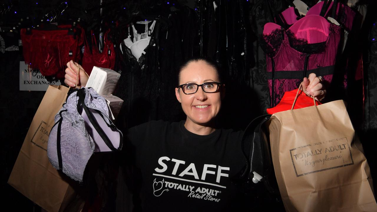 BUSY: Totally Adult operations manager Brooke Martin at Totally Adult at Maroochydore, is doing a discreet delivery service as well as click and collect, as it adapts to COVID-19 life. Photo: John McCutcheon / Sunshine Coast Daily