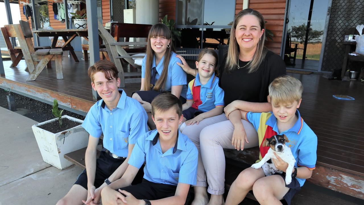 HOMESCHOOLING: Helena Harrold with her children Reuben, Alicia, Levi Joelle and Malachi.