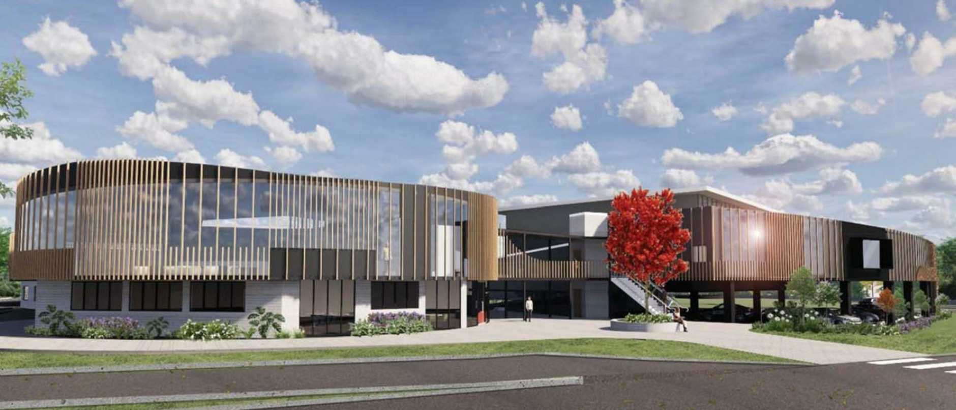 An artist's impression of the new Catholic co-ed high school at Fitzgibbon. Image: DTS Group Qld Pty Ltd report