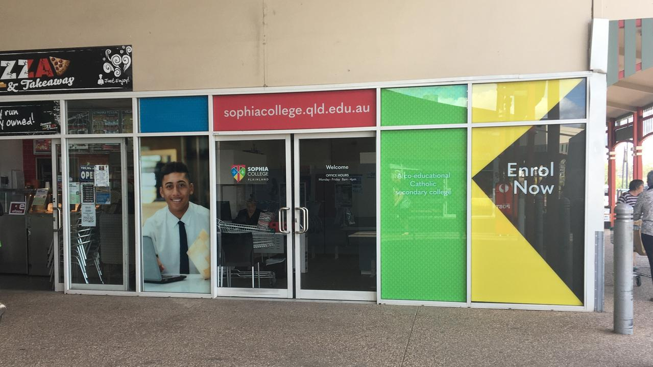 SCHOOL TIME: Sophia Catholic College, Plainland, has opened a new office at the Plainland Woolworths complex. Photo: Ali Kuchel