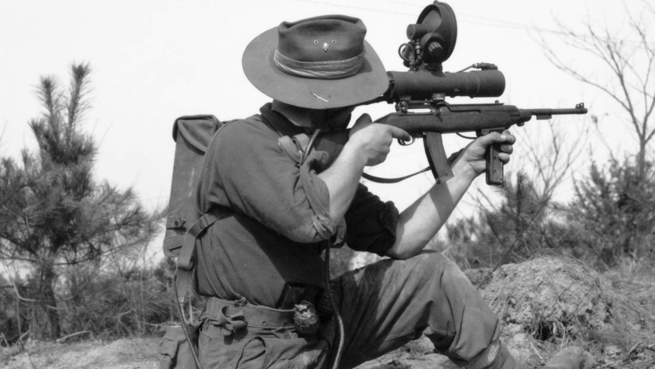 An Australian soldier at the Kapyong Valley, Korea. Picture: Australian War Memorial