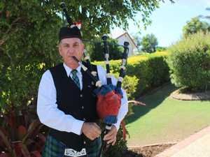 Piper's special Anzac Day driveway ceremony