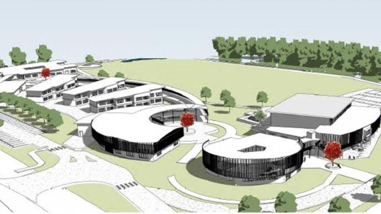 An artist's image of the Catholic secondary college which will be built at Fitzgibbon. Source: Brisbane Catholic Education