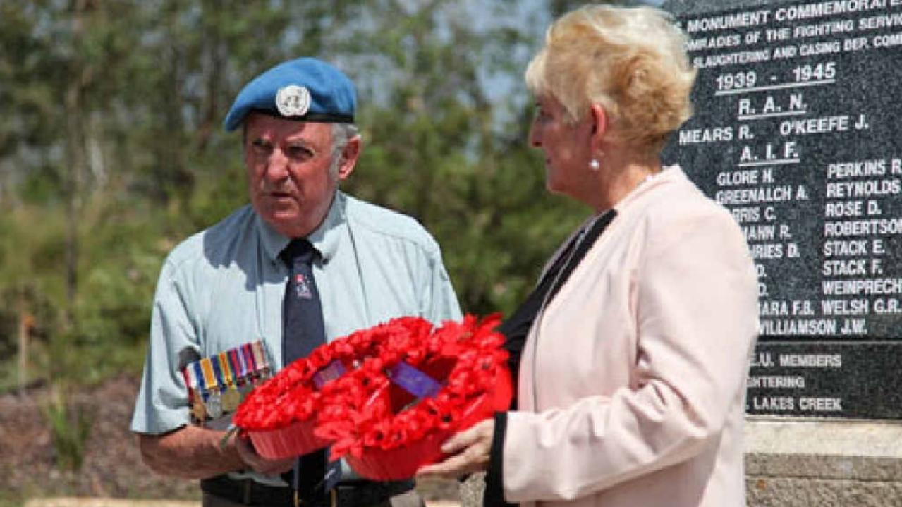 Capricornia MP Michelle Landry with Rockhampton's Ron