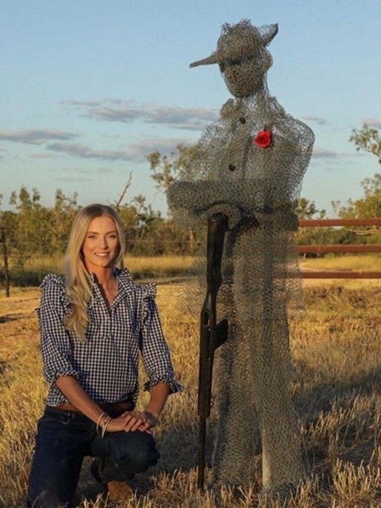 Clermont resident Anna Nicholson created a sculpture of Gallipoli sniper and Clermont resident William