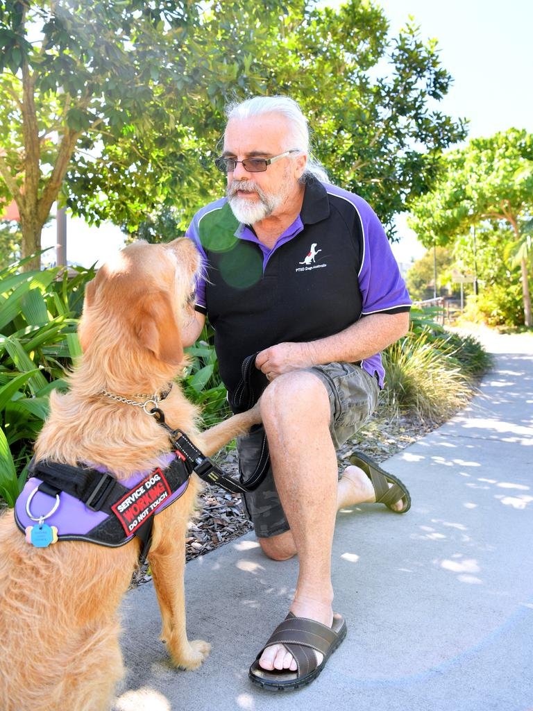 """Air force veteran Roger Weeks is the co-founder of PTSD Dogs Australia and said his dog 'Rosie' was a """"Godsend"""". Photo: John McCutcheon"""