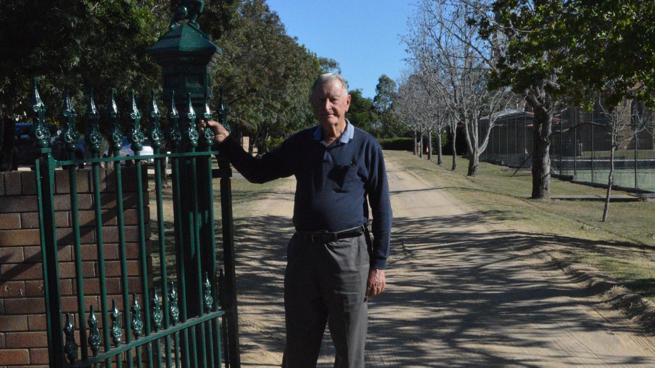 SILL VIVID: Neil Bonnell stands outside of Scots PGC and reflects on the 1980s flu outbreak that left 40 students bed-bound.