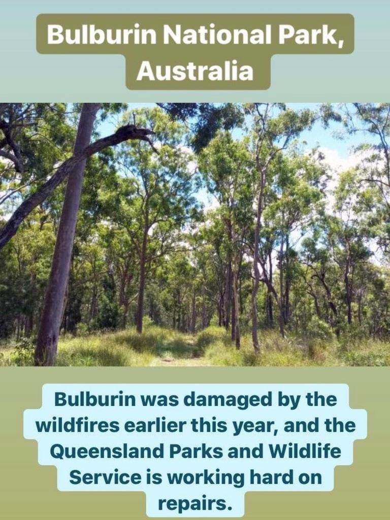 Bulburin National Park was featured on the Royal Family's official Instagram account story to celebrate Earth Day.