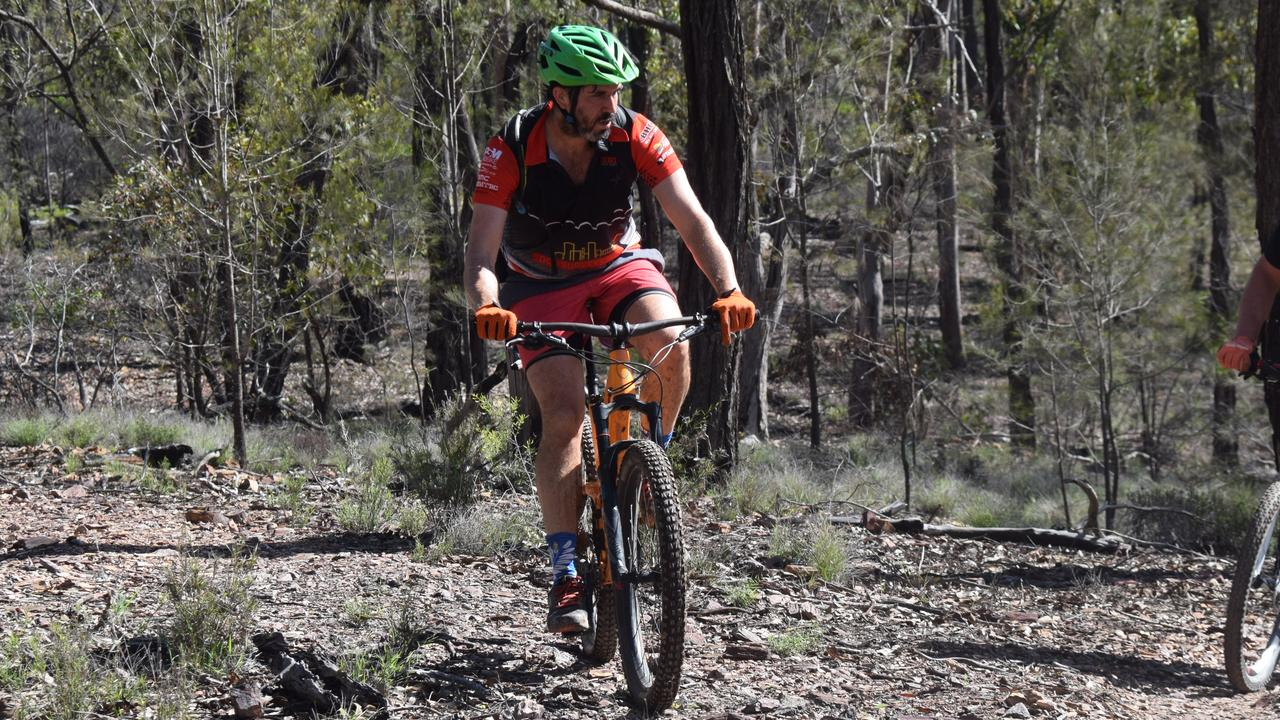The South Burnett Mountain Bike president Daniel Turton in the McEuen State Forest, Wondai. (Picture: Tristan Evert)