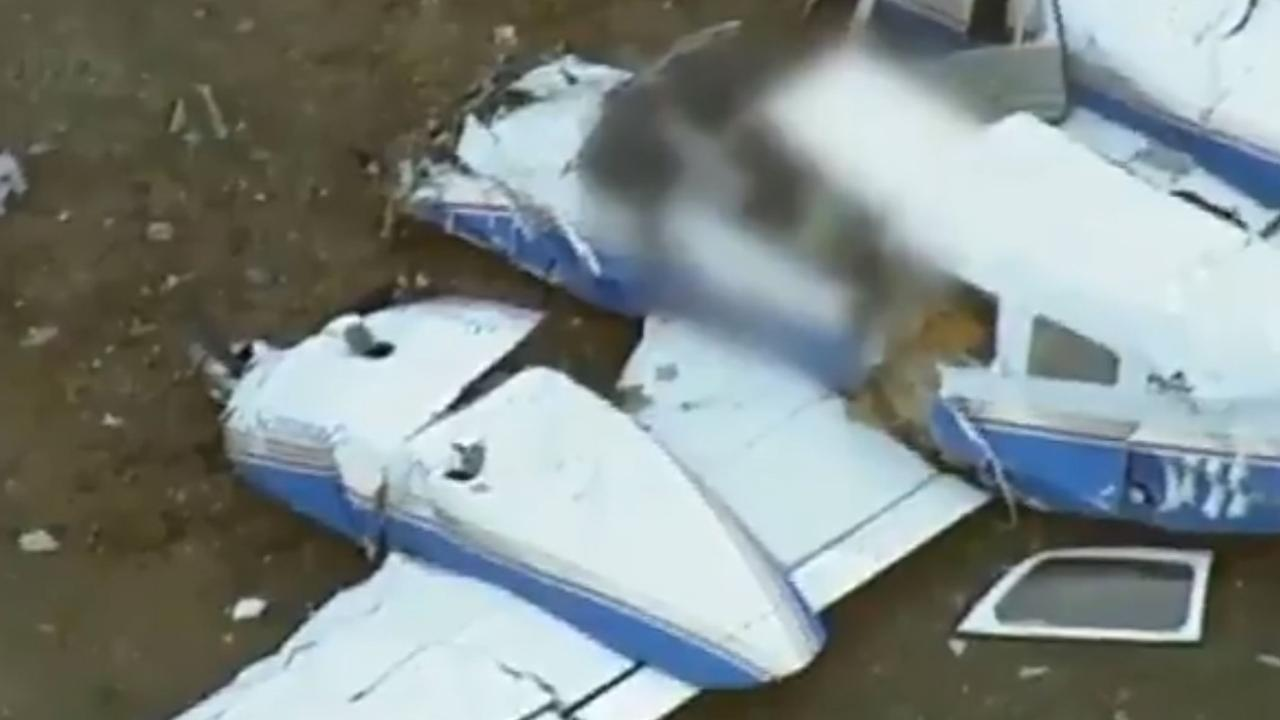 Four people died when two planes collided in midair near Mangalore in February. Picture: 7News