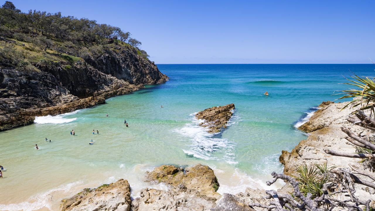 The beautiful South Gorge Beach at North Stradbroke Island has always been popular for tourists. Picture: TEQ