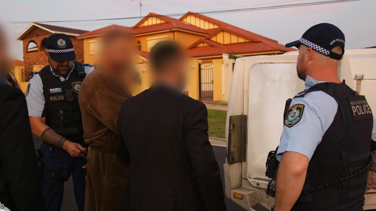 The three men were arrested in early-morning raids on Thursday. Picture: NSW Police