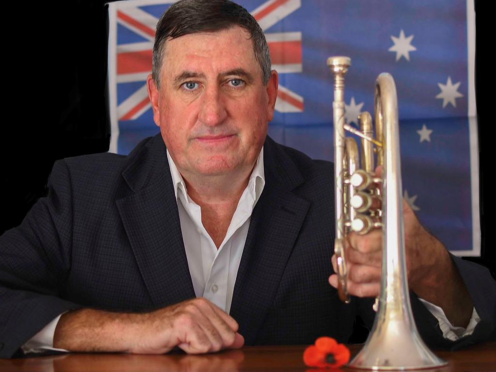 CHANGE OF PLANS: Gary Nichols has played The Last Post at Anzac Day dawn services in Grafton since 1990. This year he will play from the end of his driveway due to the cancellation of services across the country as part of restrictions to prevent the spread of the coronavirus pandemic.