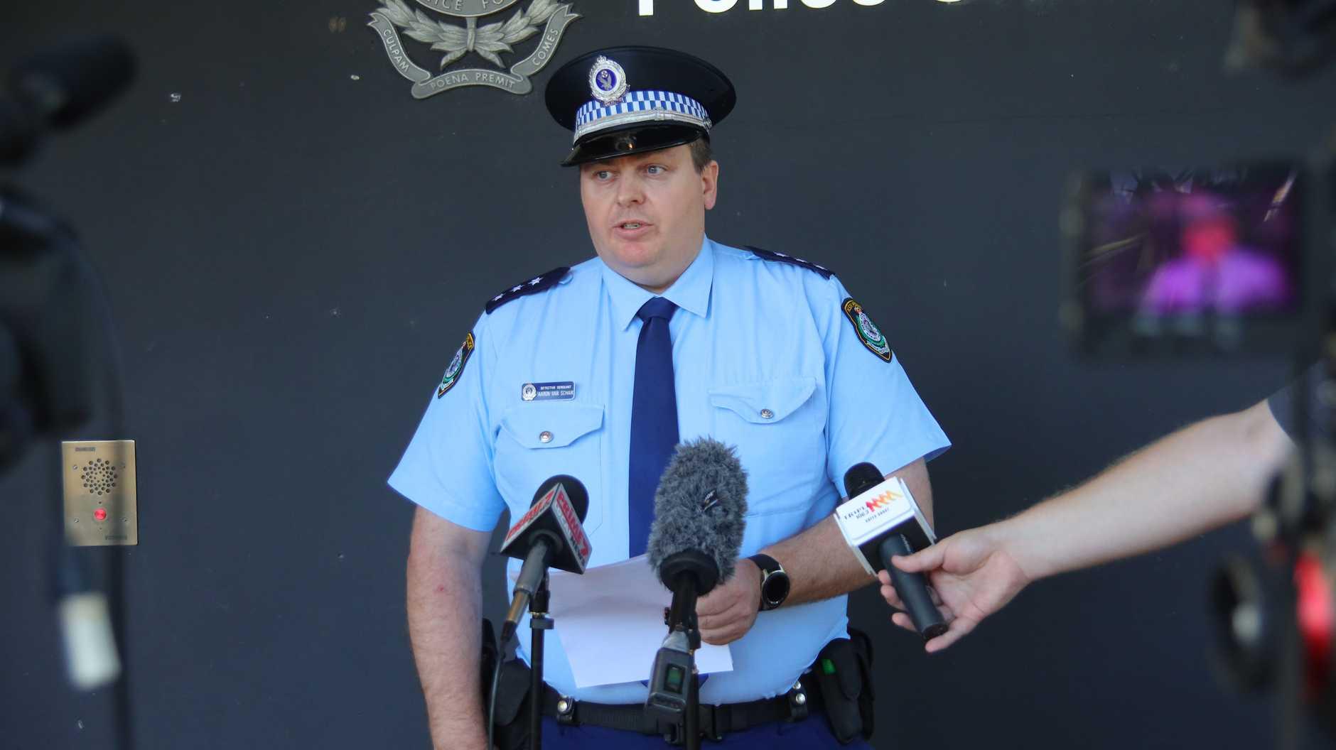 Acting Detective Inspector Aaron Van Schaik.