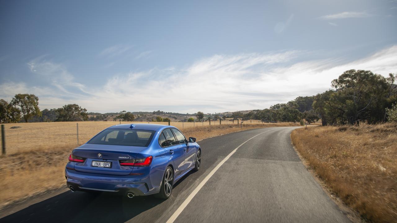 PThe 2020 model BMW 3 Series.
