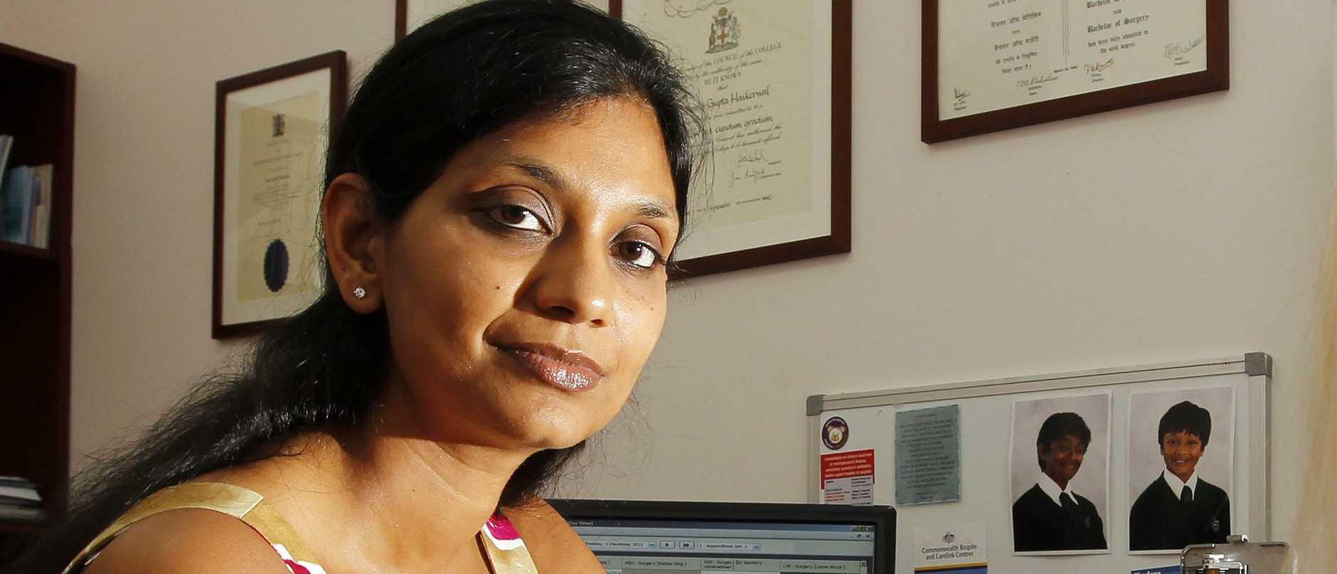 Dr Sanu Haikerwal at work at her Broadbeach Practice in Niecon Plaza
