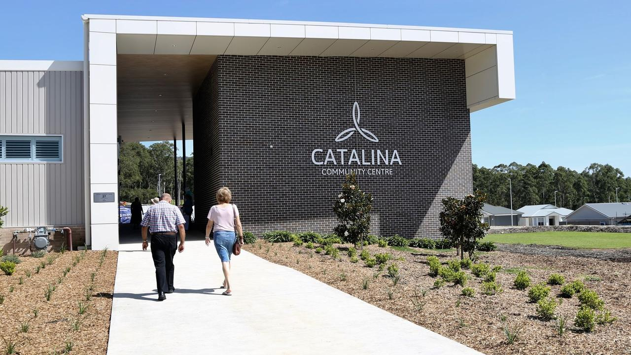 Catalina Village community centre in Lake Macquarie, the village has seen a big uptick in interest from Sydneysiders looking for space and clean air.