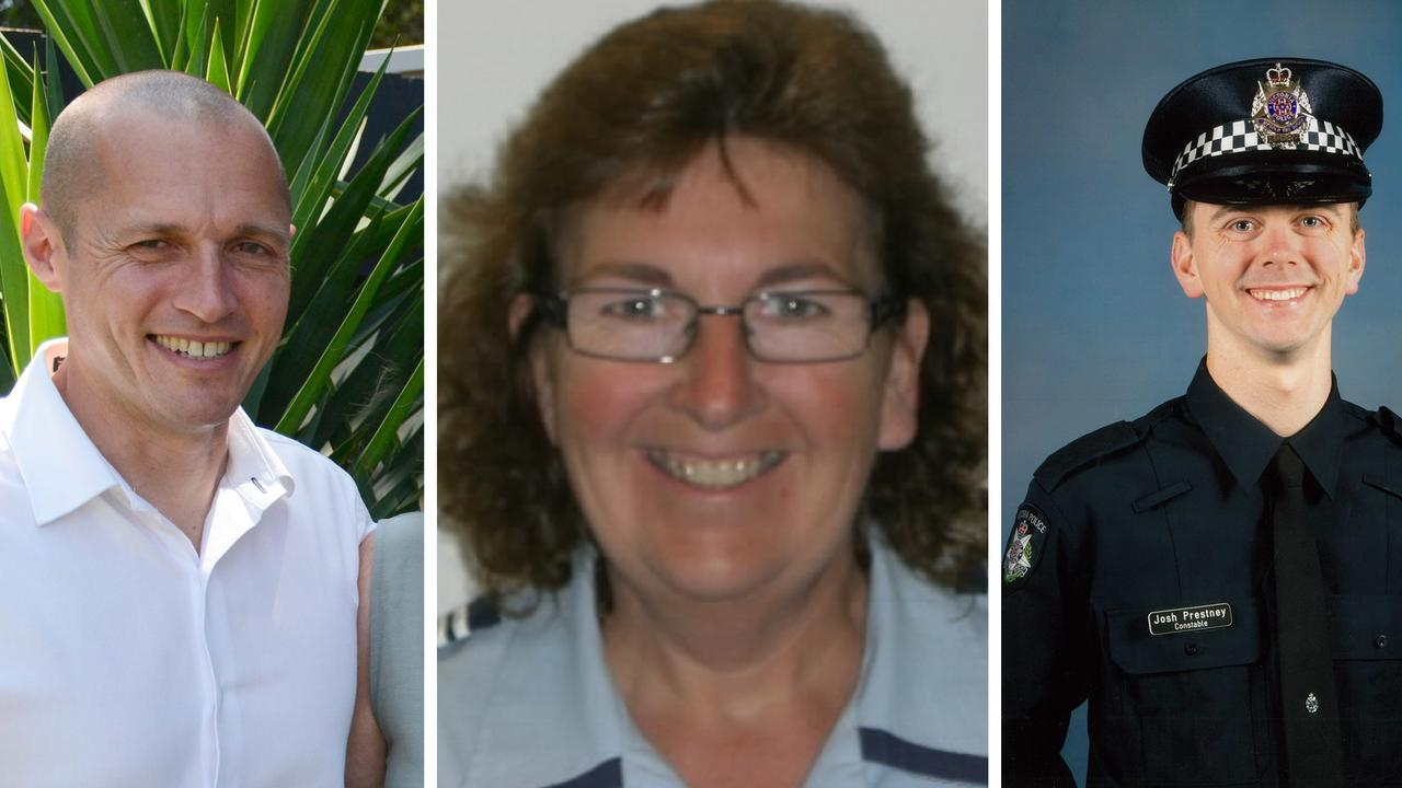 The other three victims (L-R) Senior Constable Kevin King, Leading Senior Constable Lynette Taylor and Constable Joshua Prestney. Picture: Victoria Police