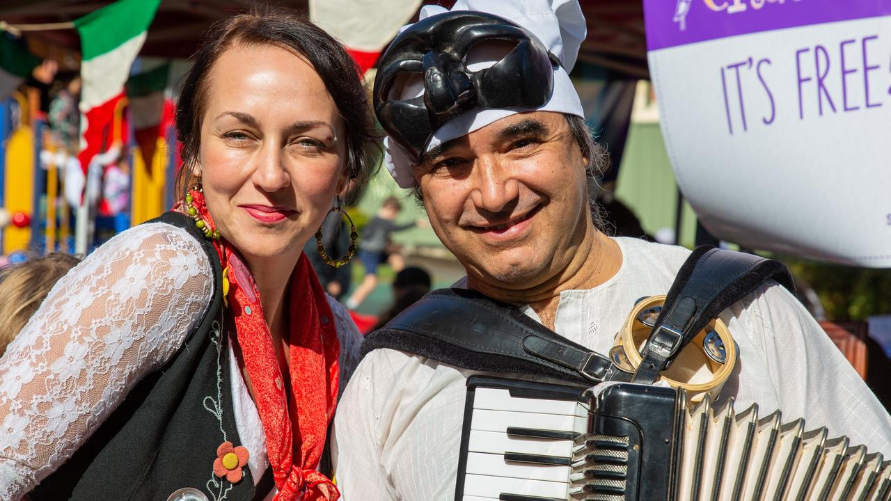 JOYFUL TIMES: Serena Joy and Antonio Mazzella at the 2019 Piazza in the Park Friendship Festival. This year's event, originally scheduled for June, has been postponed due to the COVID-19 pandemic. Photo: Ursula Bentley @CapturedAus
