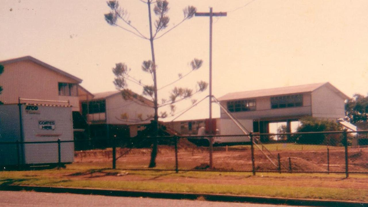 Sarina State High School in the early days. Picture: Contributed