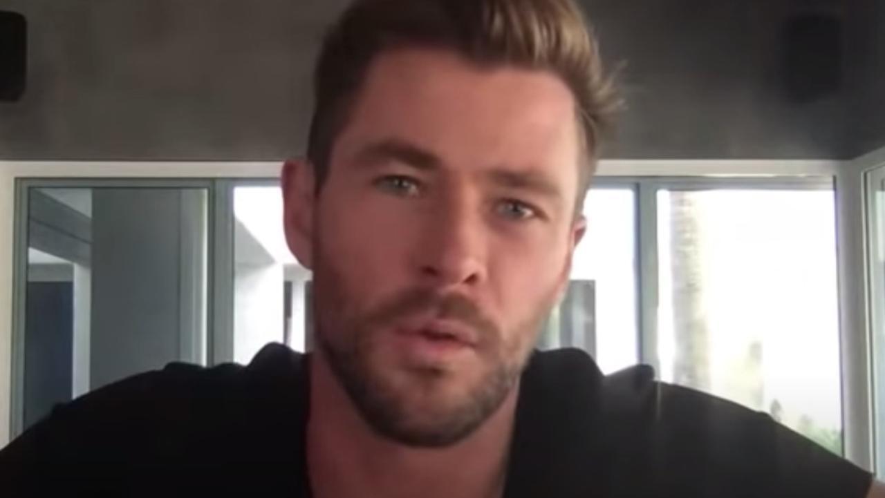 Chris Hemsworth in lockdown in Byron Bay.