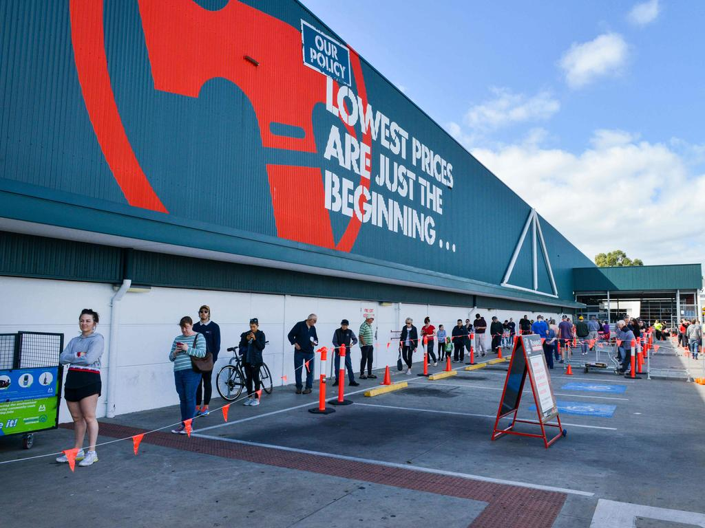 Bunnings stores have been busy in lockdown.