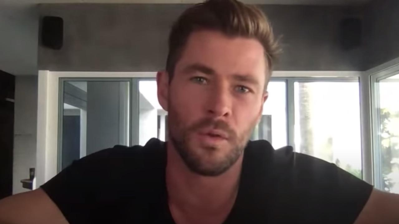 Chris Hemsworth spoke to Jimmy Kimmel from his Byron Bay home.