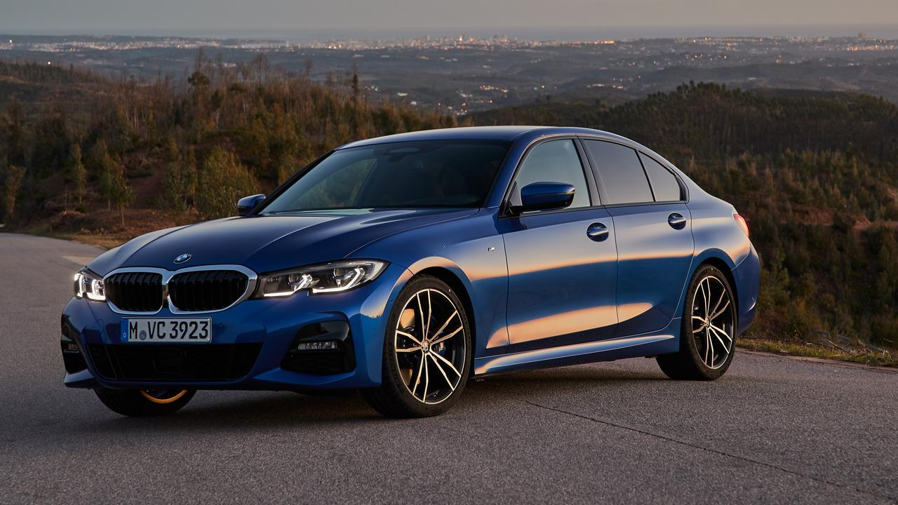 The BMW 330i starts from about $77,000 drive-away.