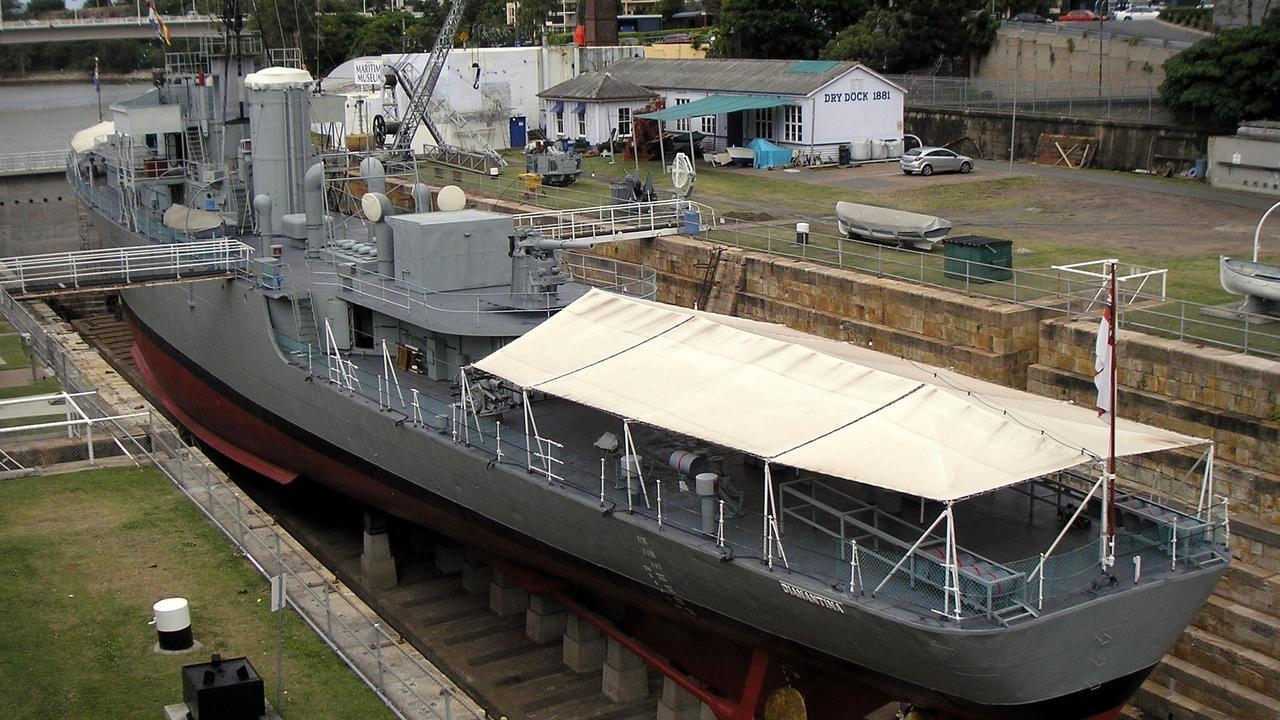 The former HMAS Diamantina in 2008.