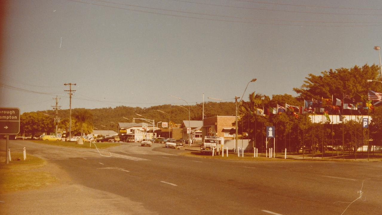 Looking towards Sarina CBD from the north, 1986. Picture: Contributed.