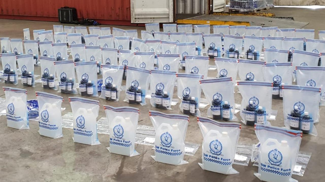 Officers discovered nearly 160 litres of the clear liquid in a shipment earlier this month.