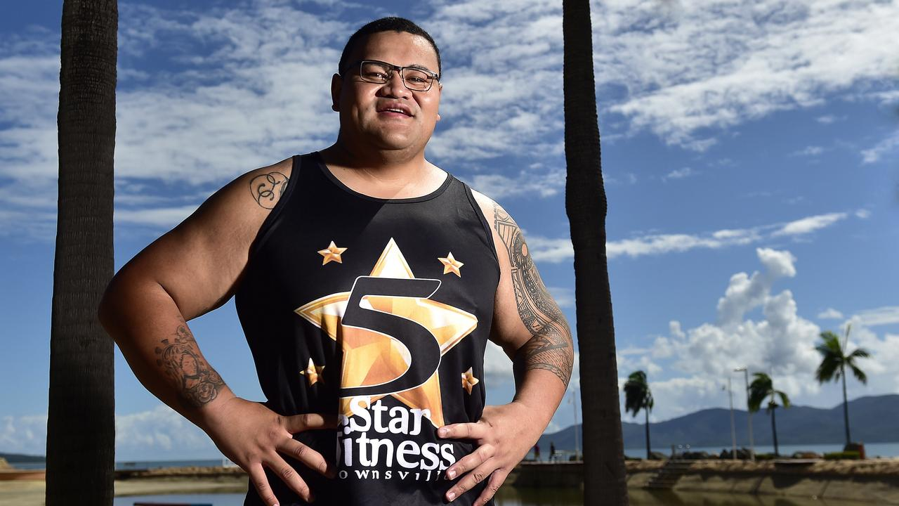 Sakaio Pakome has lost 38kg, setting a record for the 5 star fitness Townsville 12 week challenge. PICTURE: MATT TAYLOR.