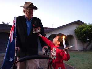 Vietnam vet stands strong to light up the dawn