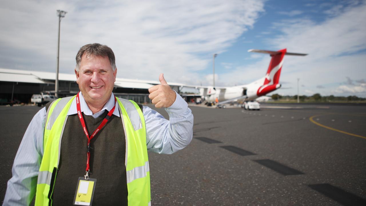 Cr Neil Fisher at Rockhampton Airport. Photo Allan Reinikka
