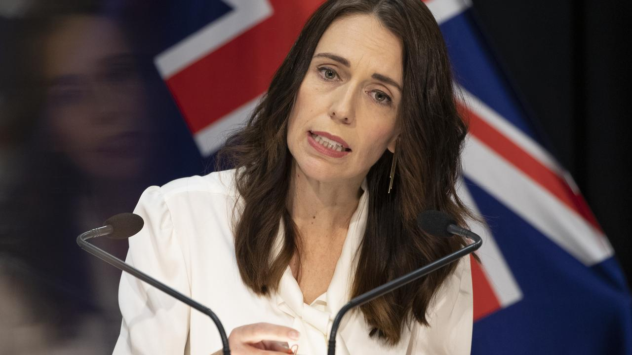 Last Monday, New Zealand Prime Minister Jacinda Ardern said the country would move from level four to level three restrictions on 27 April. Picture: Mark Mitchell - Pool/Getty Images.