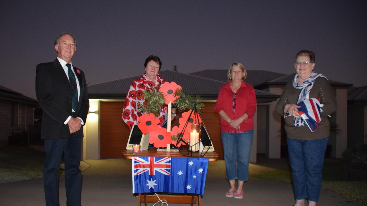 LIGHT UP THE DAWN: Hillview Parade residents Darryl Dove, Kay Dove, Anne Stuart and Janelle Askin. (Picture: Tristan Evert)