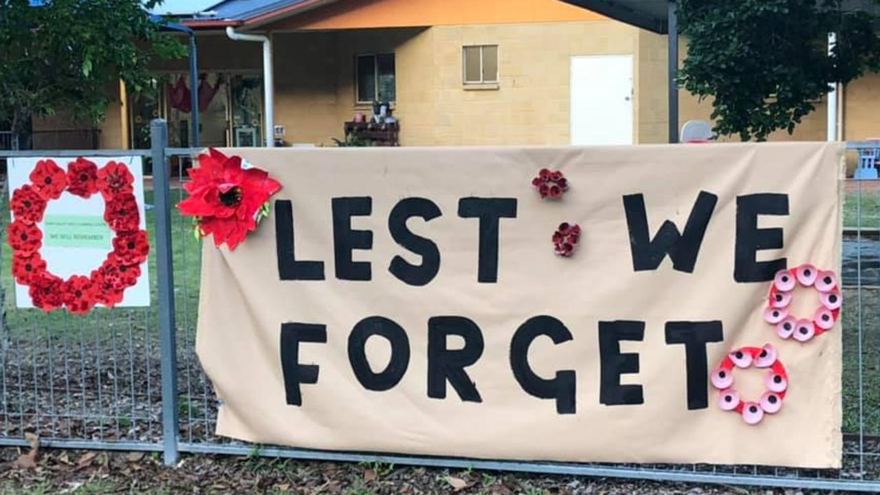 Light up the Dawn, Anzac Day Gympie 2020: Mary Valley Child Care Centre.
