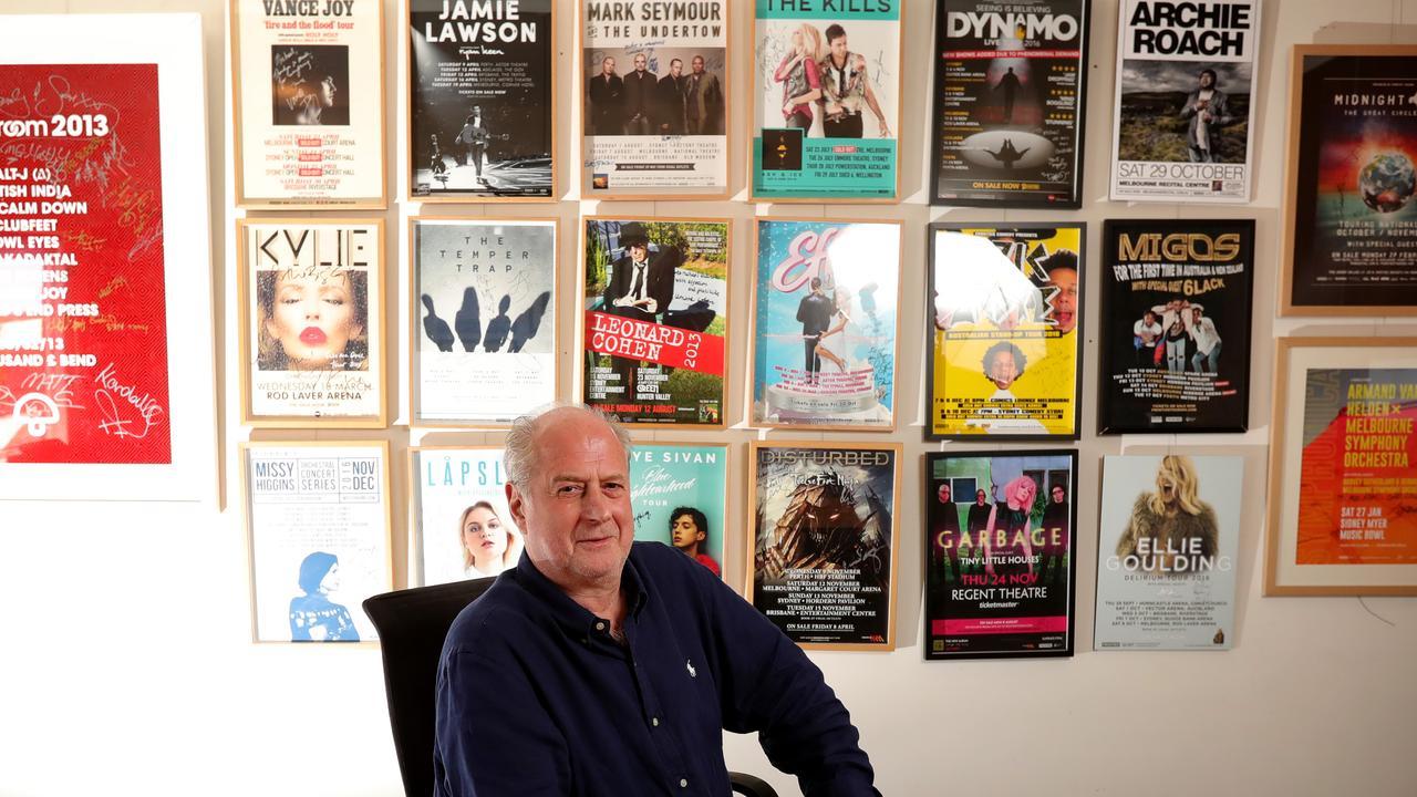 Promoter Michael Gudinski has pulled the virtual gig together in days. Pics: Stuart McEvoy/The Australian.