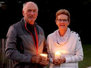 Residents light up the dawn for a different Anzac Day