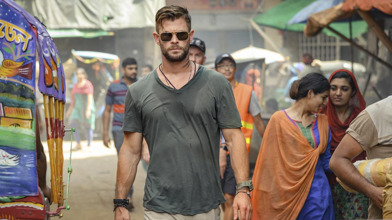 Chris Hemsworth in a scene from Extraction, Picture: Jasin Boland