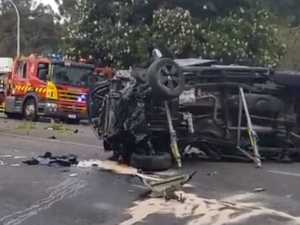Two dead in horror multi-vehicle crash on main road