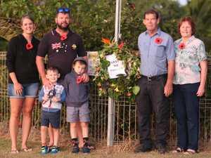 Bowen driveways light up as residents honour Anzac Day